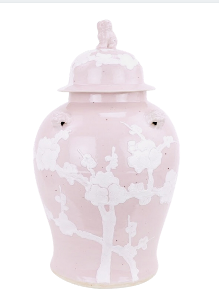 Mary Craig New Pastel Ginger Jar in Pink