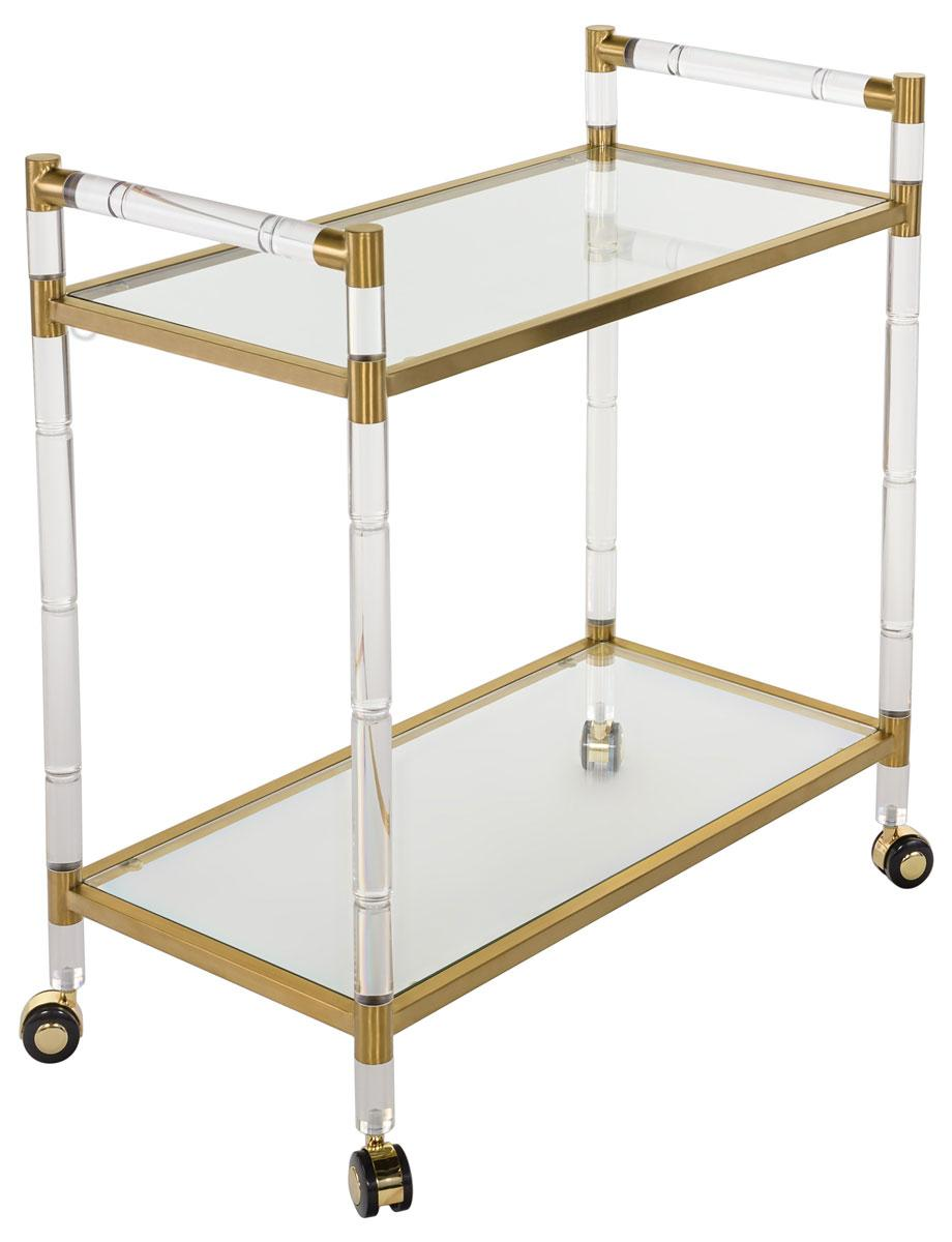Duval Acrylic Bar Trolley - Dashing Trappings