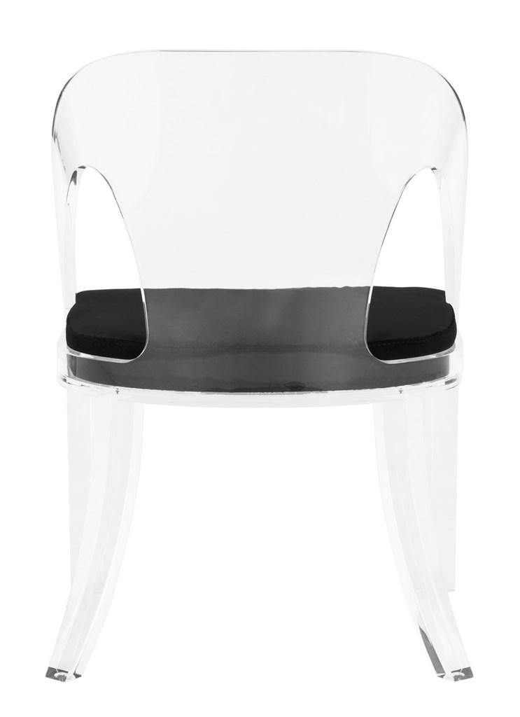 Sabina Acrylic Chair, Safavieh, lucite, black