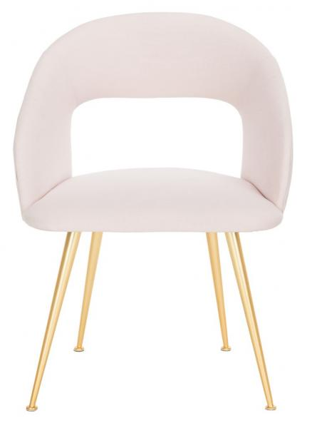 Lorina Linen Blend  Arm Chair, light pink, gold, Safavieh, modern