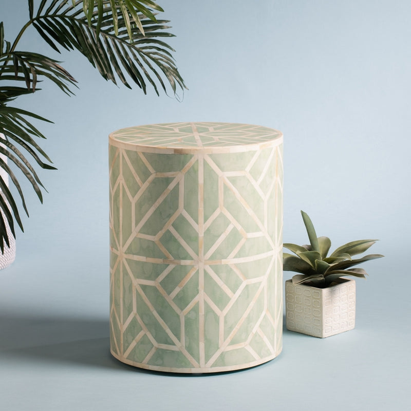 Kiwi Bone Inlay Stool - Dashing Trappings