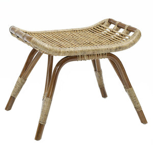 Monet Foot Stool, Sika Designs, Rattan, Dashing Trappings, Antique