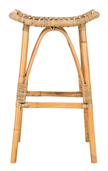 Leda Rattan Bar Stool - Dashing Trappings
