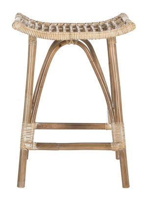 Leda Rattan Counter Stool - Dashing Trappings
