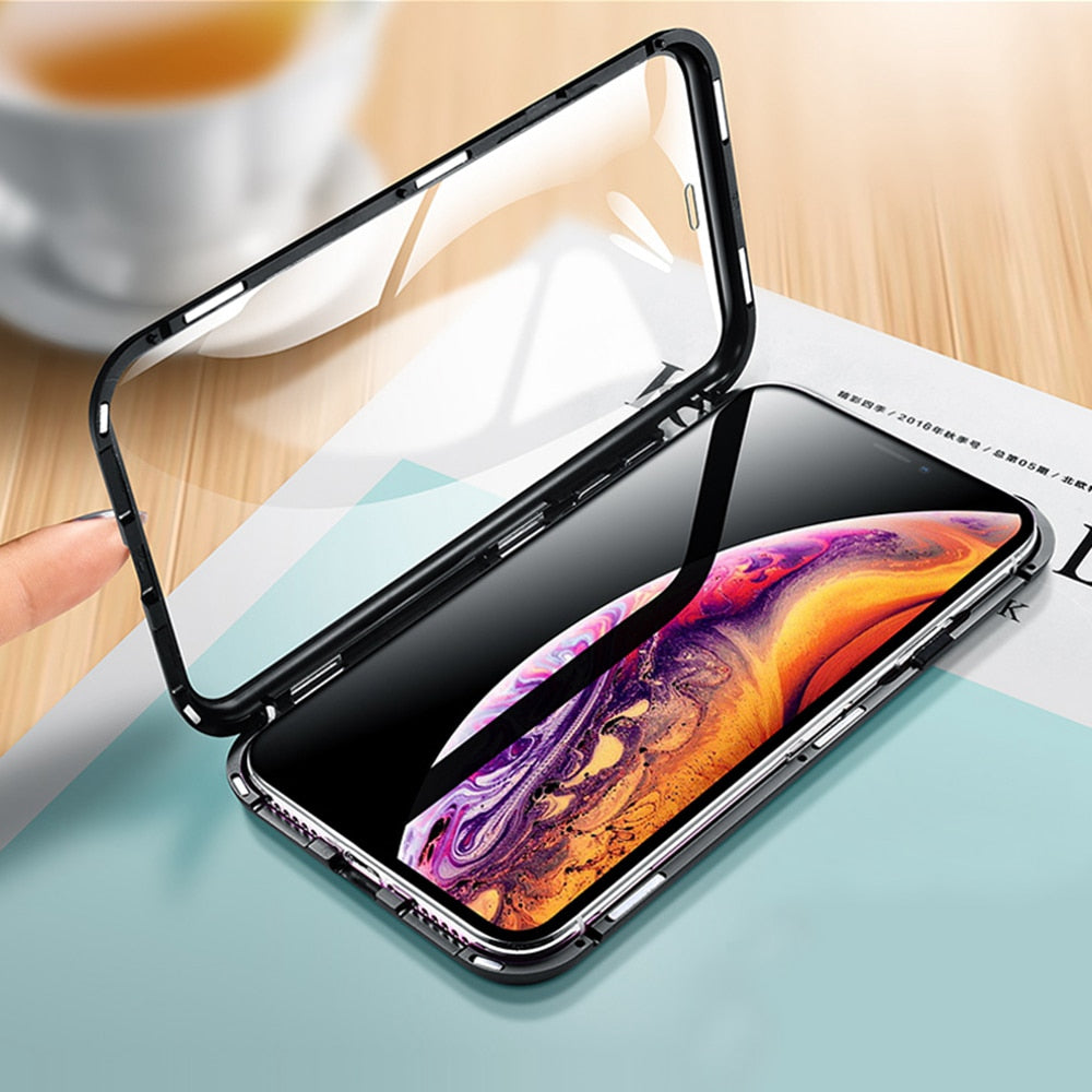 Magnetic Adsorption Two Side iPhone Case