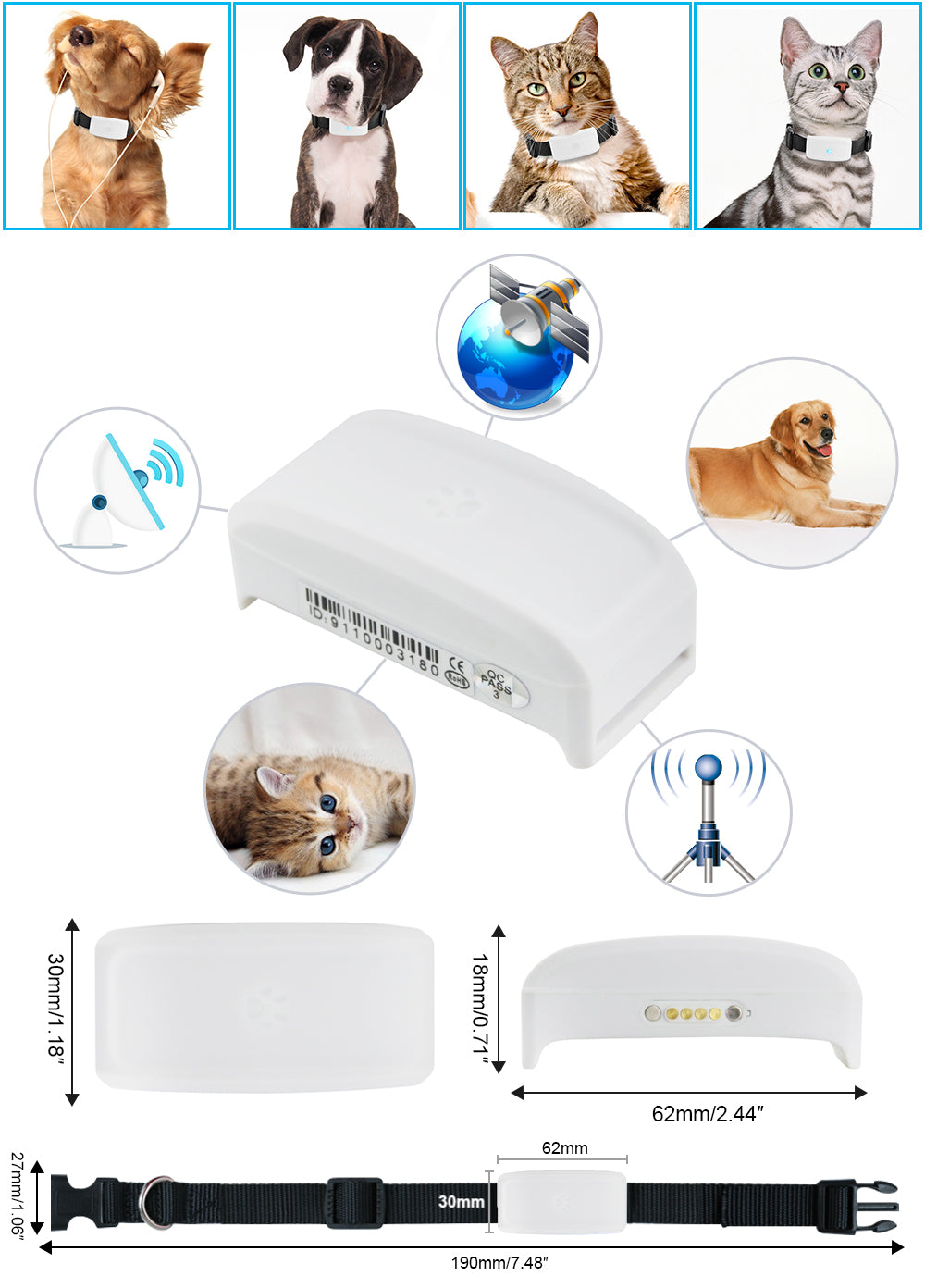 Best Seller GPS Cat Collar