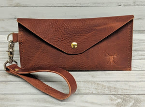 Amelia Leather Clutch
