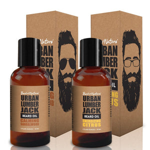 Urban Lumberjack Beard Oil (2 Pack) - Calming Sandalwood & Invigorating Citrus