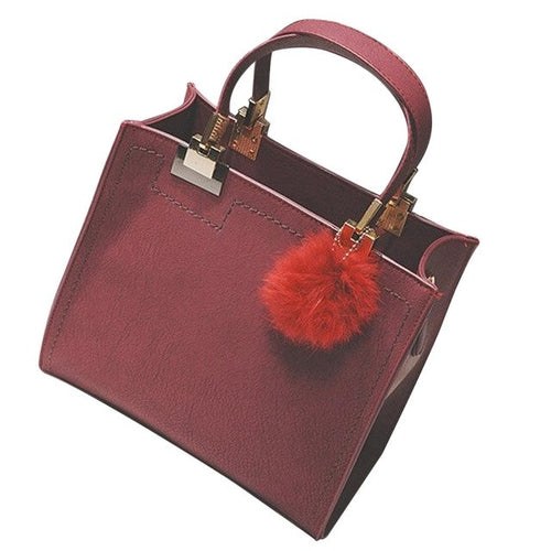 Women's Luxury Tote Handbag - Black, Brown, Gray, Red