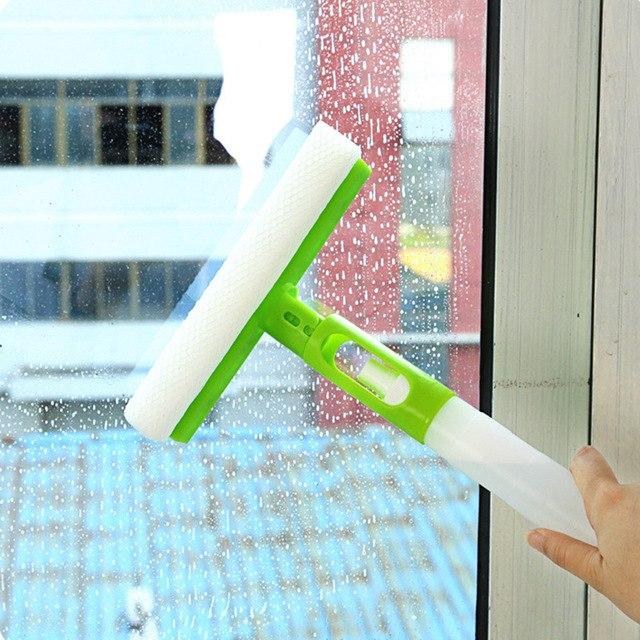 3-in-1 Window/Glass Cleaning Spray Brush - Assorted Color
