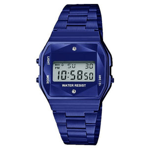 Navy LCD Display Sports Wristwatch - Coronado