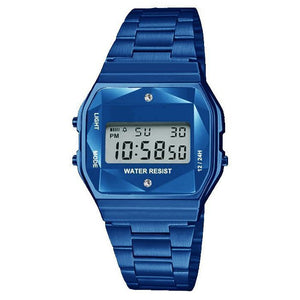Blue LCD Display Sports Wristwatch - Fremont