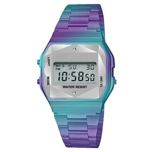 Iridescent LCD Display Sports Wristwatch - Fontana