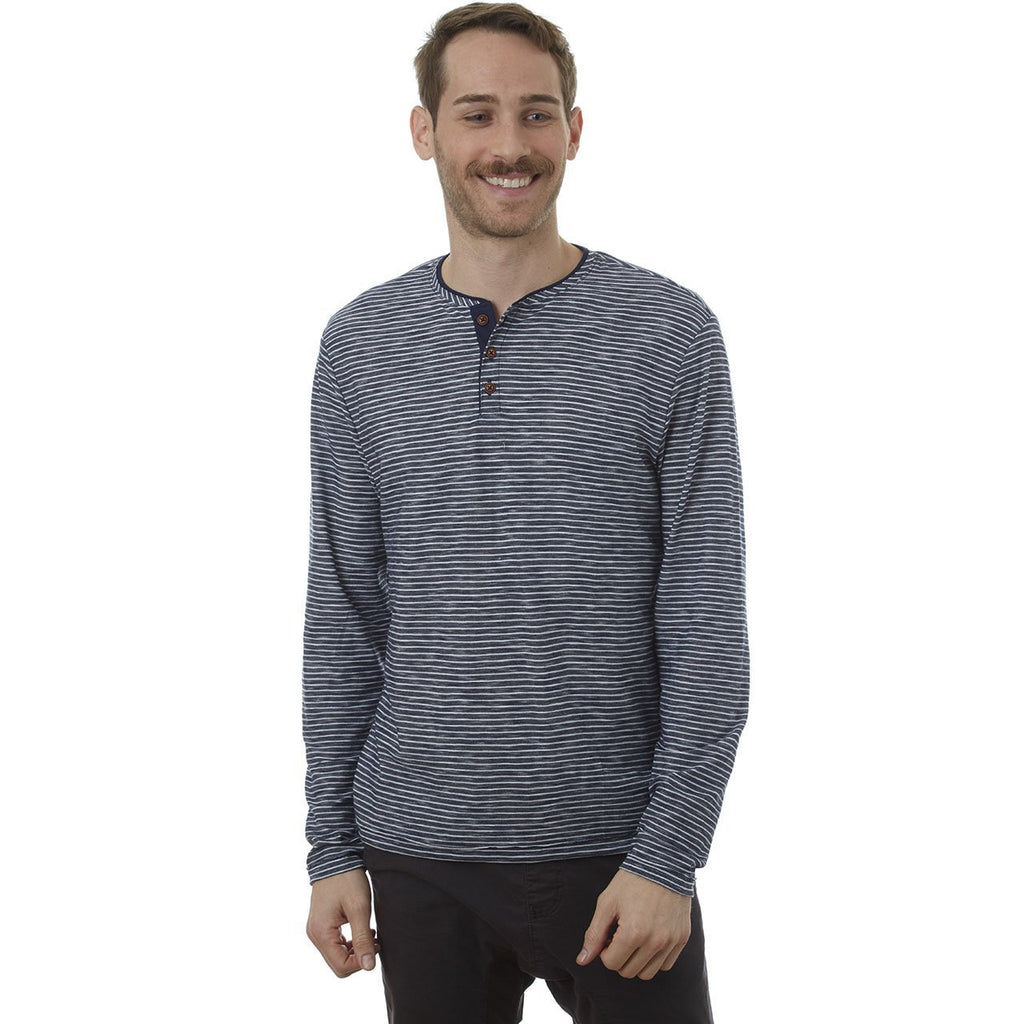 Jerry Navy Long Sleeve Henley