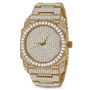 Belvedere Japanese Solid Alloy Bling Wristwatch - Gold/Silver