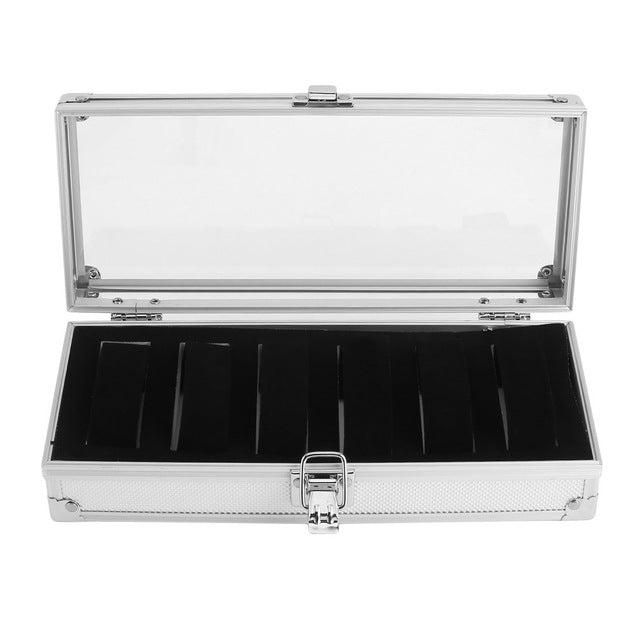 6 Grid Insert Slots Aluminium Watch Box Jewelry
