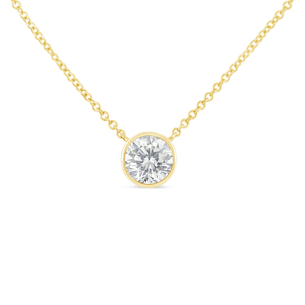 Women's 10K Yellow Gold & Diamond Solitaire Necklace