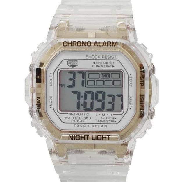 Transparent/Gold LCD Watch Black Face - Chandler