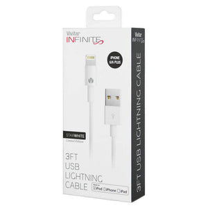 Apple MFi Certified Lightning to USB Charging Cable - White