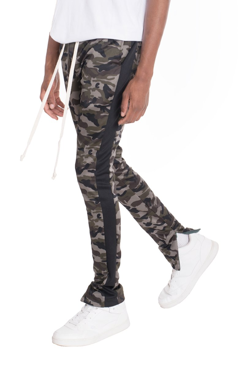 NEUTRAL CAMO TRACK PANTS- BLACK