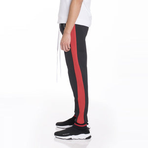 Rally Track Pants - Black & Red