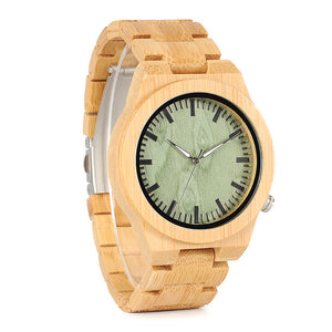 Men's Bamboo Wood Quartz Wristwatch - Ghost