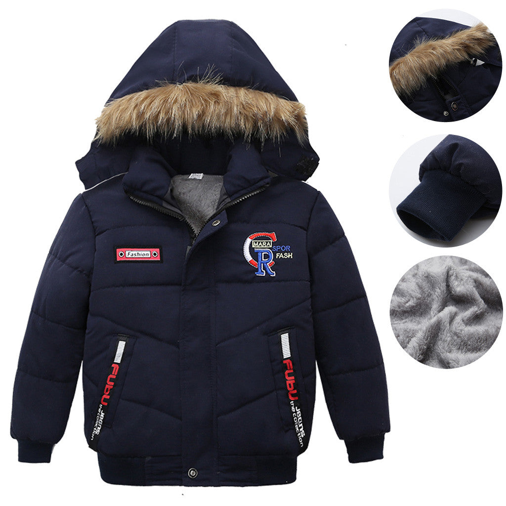 Baby Coat Hooded Long Sleeve Thick Warm Winter
