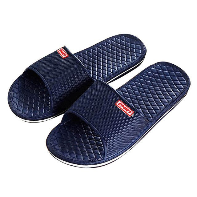 Men's Casual Slippers - Available in Black, Navy