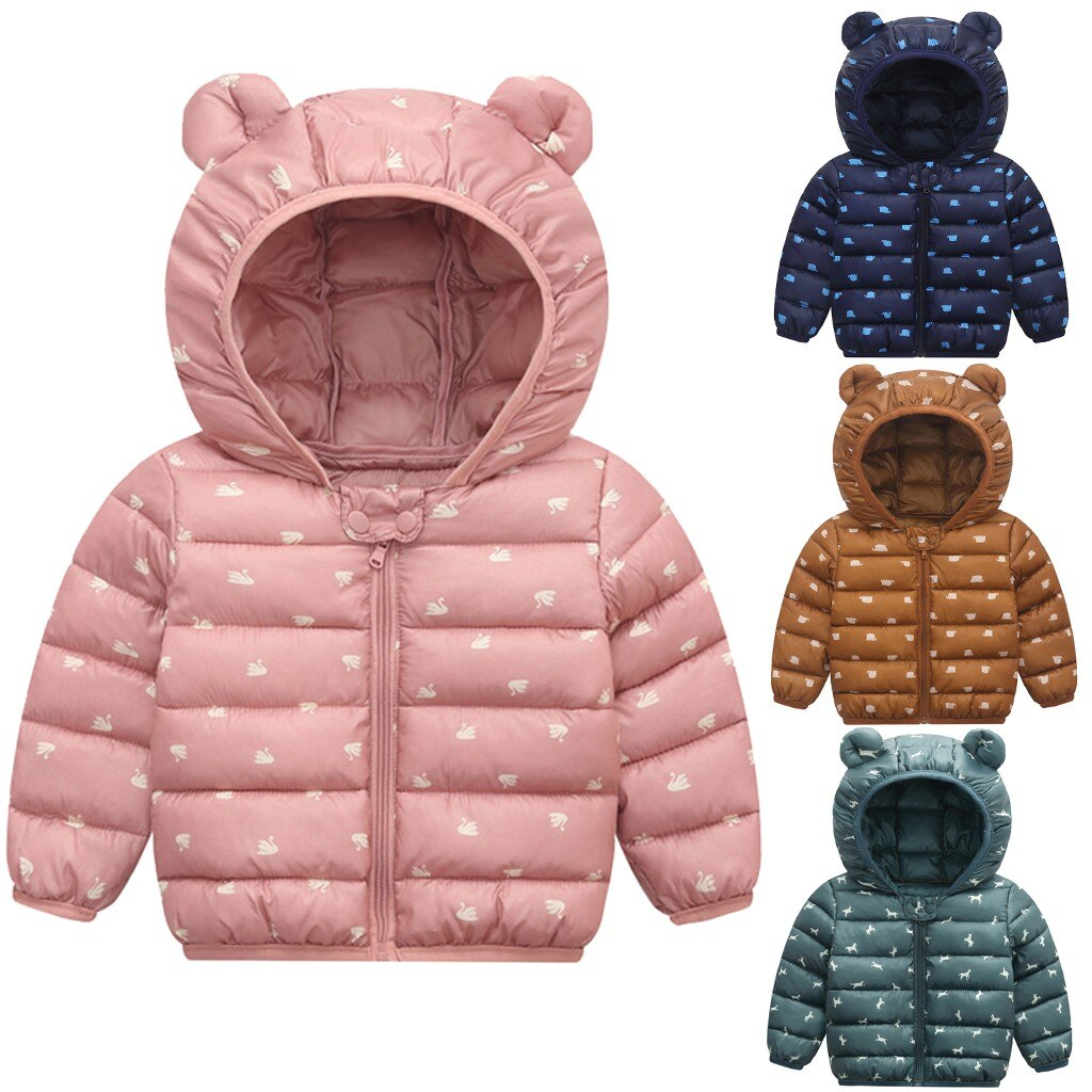 Cute Toddler Baby Boys Girls Winter Coat Jacket 3D