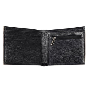 Doshi Genuine Pebbled Microfiber Leather Wallet with Coin Pocket - Black, Brown