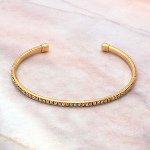 Women's 14K Gold Dipped Cubic Zirconia Bangle