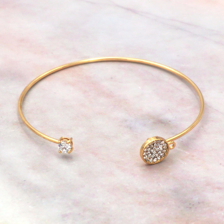 Women's Gold Cubic Zirconia Bangle