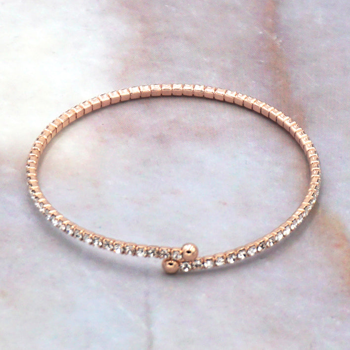 Women's Rose Gold Cubic Zirconia Tennis Bracelet