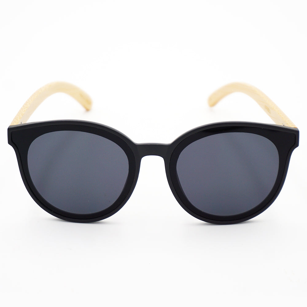BAM Round Cat-eye Bamboo Sunglasses