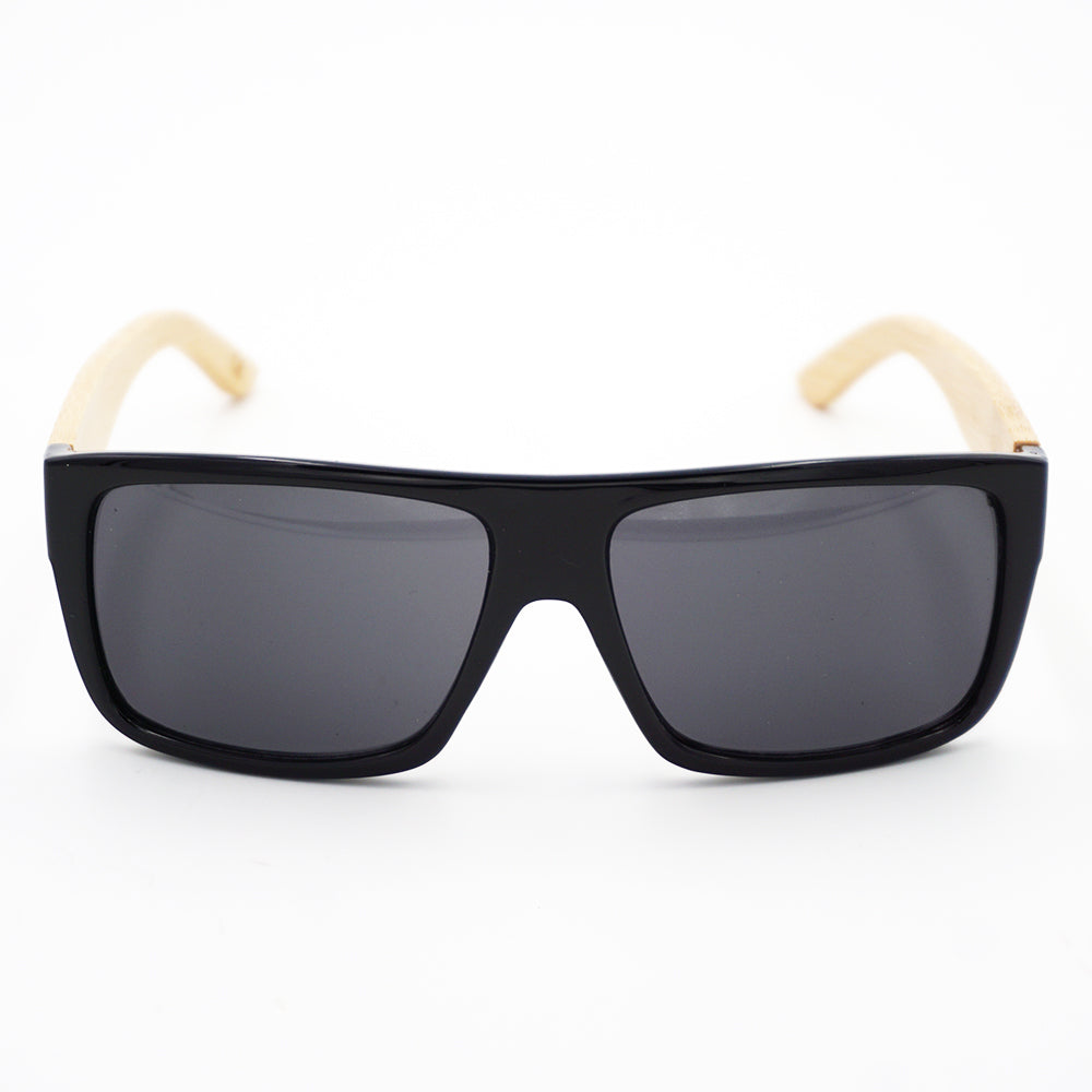 BAM Wide Rectangular Bamboo Sunglasses