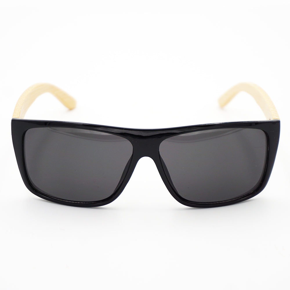 BAM Dark Rectangular Bamboo Sunglasses