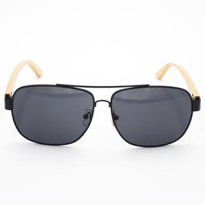 BAM Square Aviator Bamboo Sunglasses
