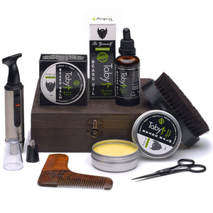 Tabys Beard Grooming and Trimming Set for Men (9 Piece Set)