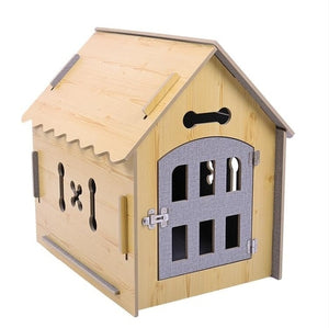 Eco-Friendly Wooden Pet Dog House