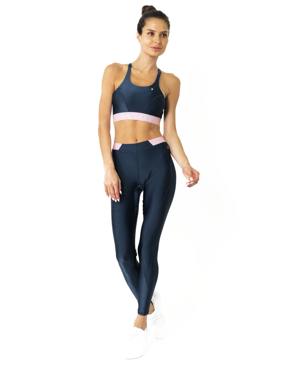 Hudson Two Piece Workout Set - Sports Crop Bra and