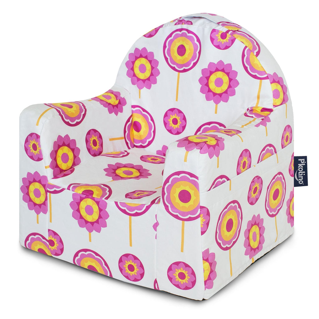 Kids' Little Reader Reading Cushion Chair - Pink Flowers