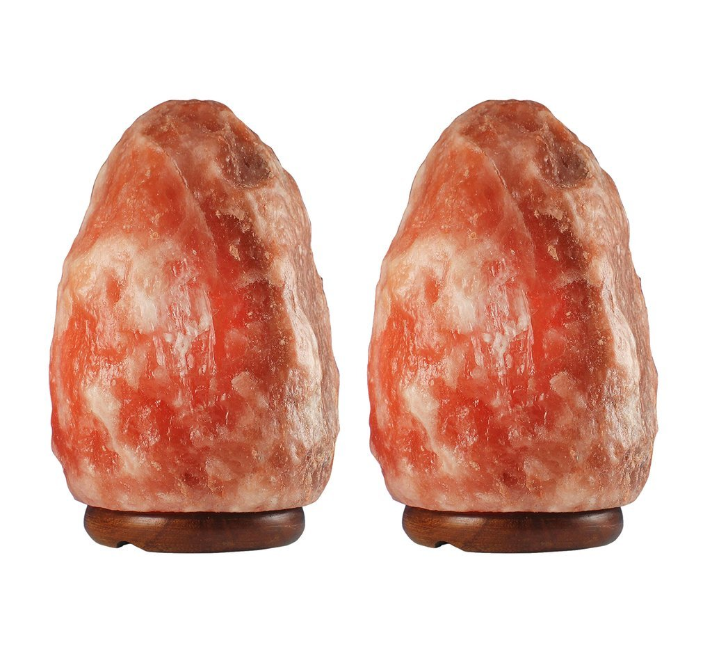 2 Pack of 8-11 lbs Natural Himalayan Salt Lamp