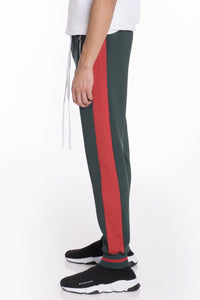 RALLY TRACK PANTS- GREEN/RED