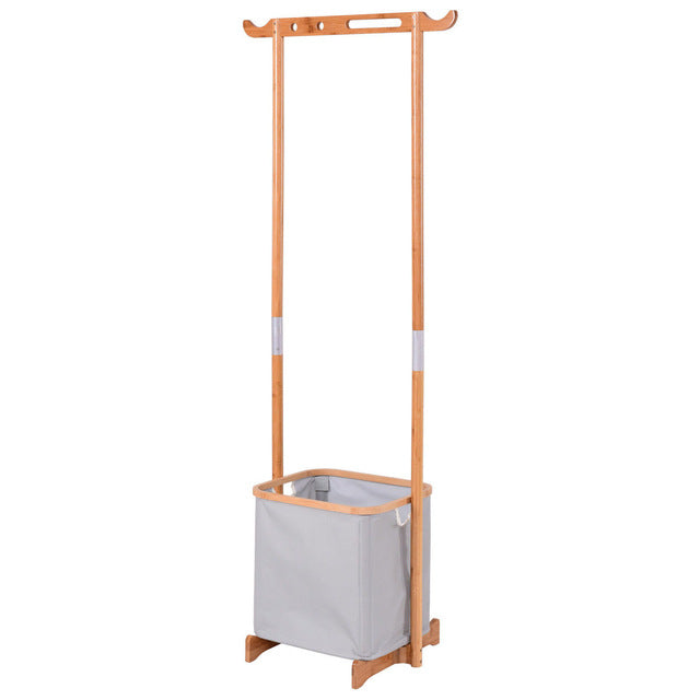 Bamboo Clothes Drying Rack Portable