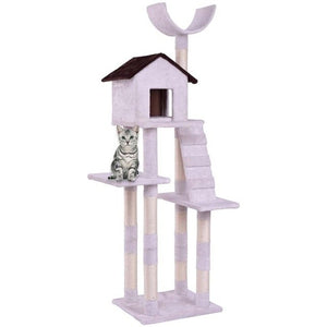 "68"" Cat/Kitten Tree House Condo Tower - Gray, White"