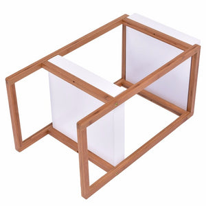 Bamboo Side End Table Accent Coffee Table
