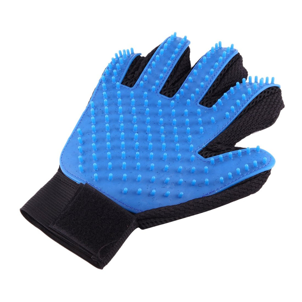 True Touch Five Finger Deshedding Brush Glove Pet