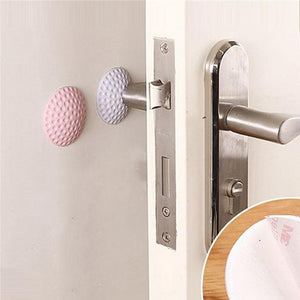 Set of 2 Rubber Room Doorknob Wall Cushion - Available in Many Colors
