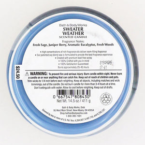 Bath & Body Works Sweater Weather Candle