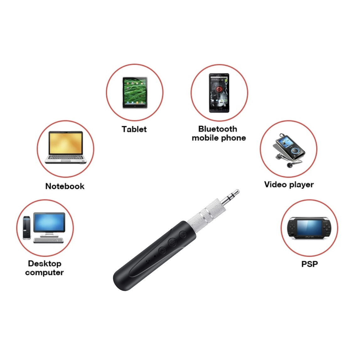 Wireless Bluetooth Audio Receiver Adapter